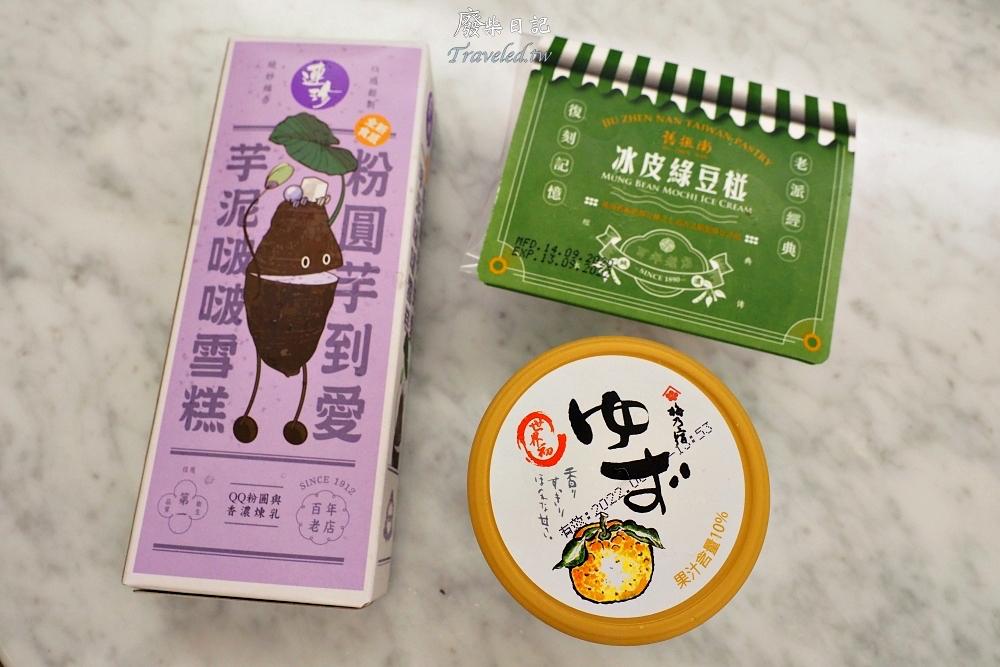 超商冰品分享 杜老爺X連珍聯名款的芋泥啵啵雪糕、舊振南的冰皮綠豆椪、梅乃宿柚子酒風味冰淇淋